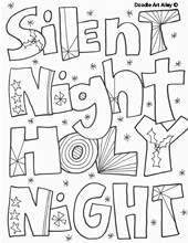 christmas coloring pages - religious doodles - Christian Christmas Coloring Pages