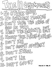an error occurred. picture ten commandments coloring page. 10 ...