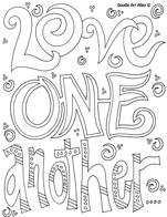 Love Kindness Coloring Pages Religious Doodles