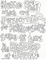 Sermon on the Mount Coloring Pages Religious Doodles