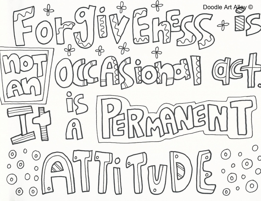 forgiveness coloring pages religious doodles