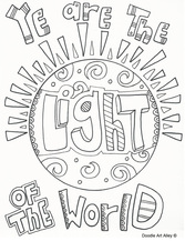ye are the light of the world coloring page