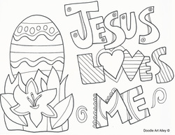 Easter Coloring Page. Picture