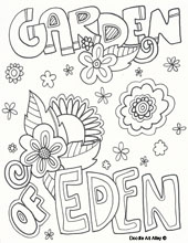 Garden of Eden Colouring Page | 220x170