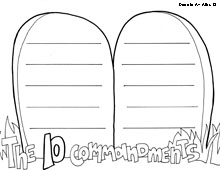 coloring pages ten commandments tablets for sale | Ten Commandments Coloring Pages - Religious Doodles