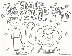 Jesus Is My Good Shepherd Coloring Page Picture