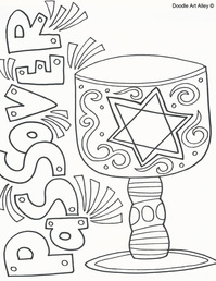 Passover Coloring Pages Religious Doodles