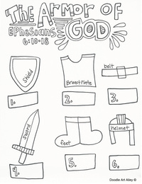 Helmet Of Salvation Coloring Page Coloring Pages