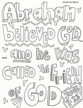 Abraham Coloring Pages Religious Doodles