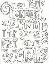 Prayer Coloring Pages - Religious Doodles