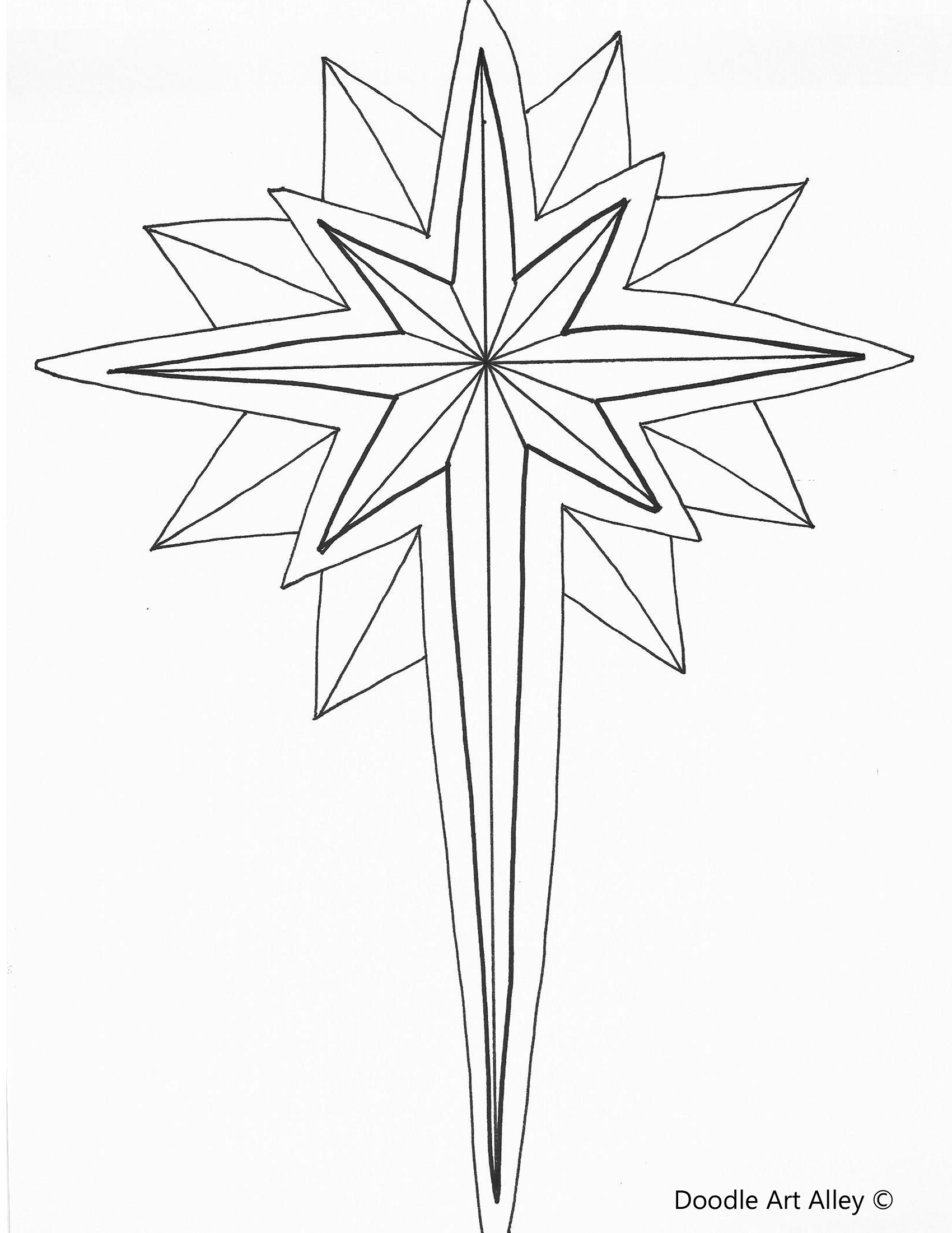 christmas star coloring page