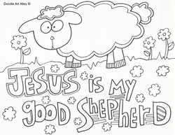 Good Shepherd Coloring Pages Religious Doodles