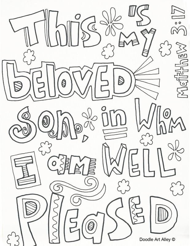 - Baptism Of Jesus Coloring Pages - Religious Doodles