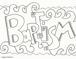 jesus baptism coloring pages Coloring Pages Ideas